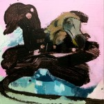 Pako dodosaarelta (2018), Acrylic and oil colour on MDF board, 22 x 17 cm